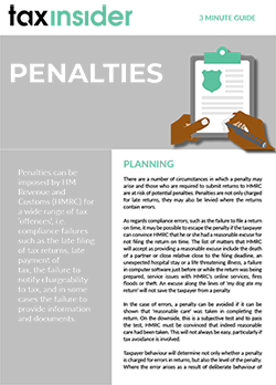 Tax Insider 3 minute guide tax penalties article