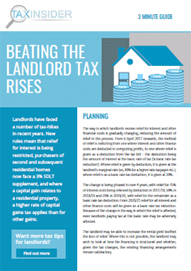Beating The Landlord Tax Rises