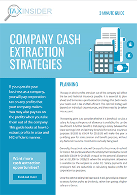 3 minute guide download company cash extraction