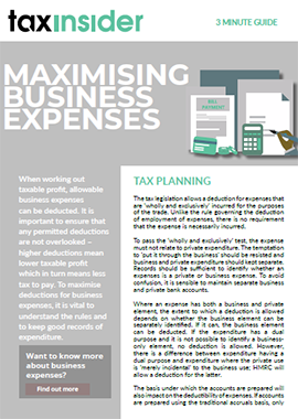 3 minute guide download maximising business expenses