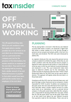 Off payroll working 3 minute guide download