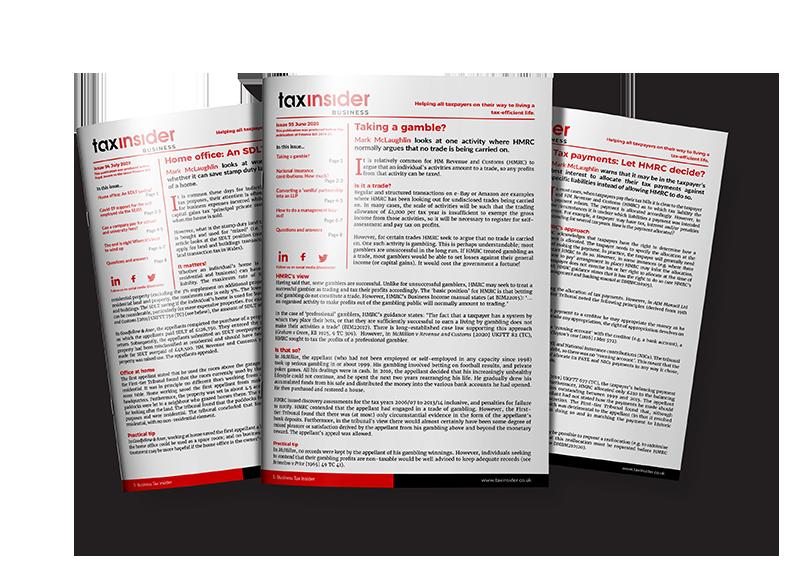 business tax insider newsletters