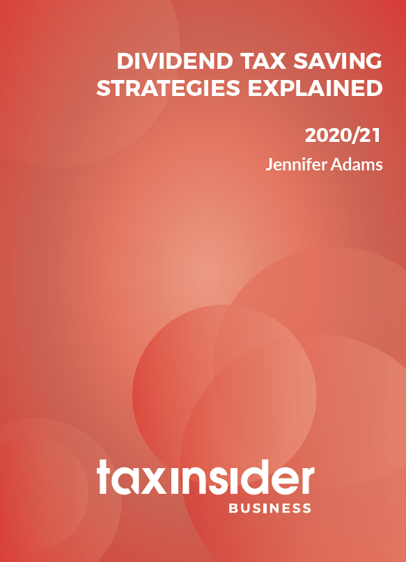 Dividend tax saving strategies explained business Tax Insider red report cover