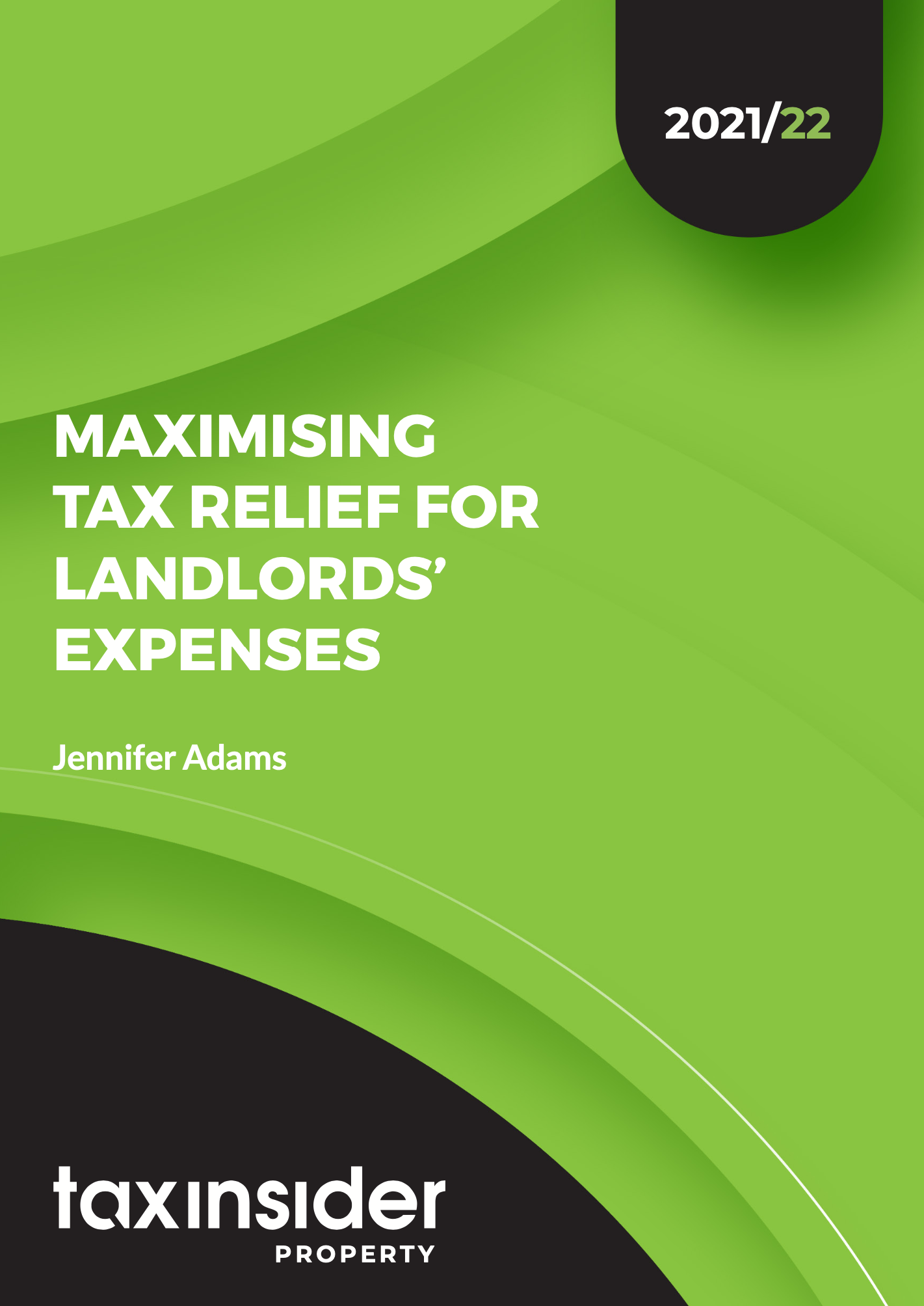 How to maximise landlord expenses property tax report cover green