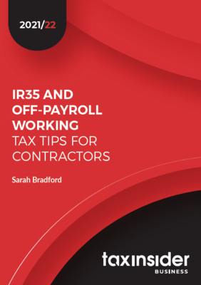 IR35 tax tips for contractors Tax Insider business red report cover