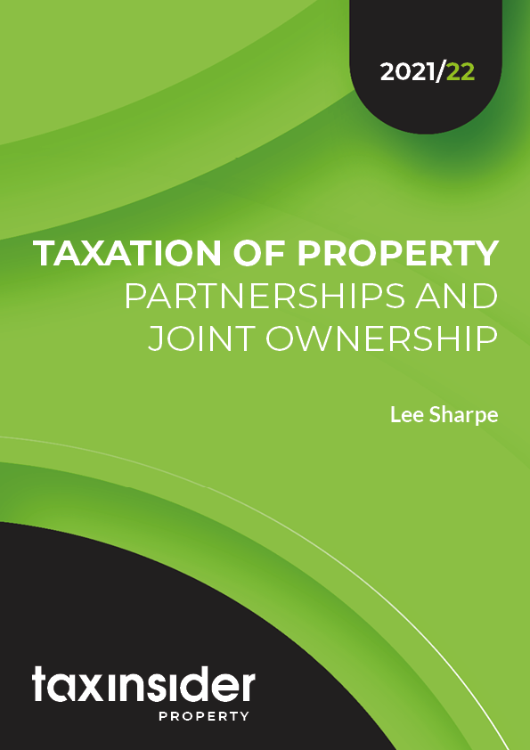 Taxation of property partnerships and joint ownership property tax report cover green